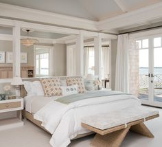 Hamptons, NY II - Beach Style - Bedroom - New York - ALICE BLACK INTERIORS
