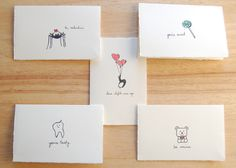 Cute I love You Card  Thinking of You Sweet by LittleShopofElleSee, $4.25