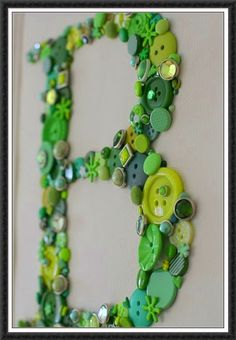 Button initial - love this for a kids room.