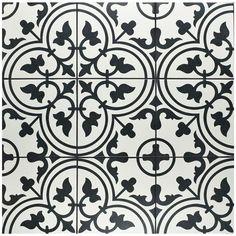 """9.75 """"x 9.75 """" Arte White Porcelain Floor/Wall Tile"""