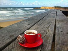 Coffee at the beach..Perfection this is so me!!! my happy place with my favorite beverage ☕️
