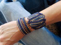 Macrame Jewelry, Macrame Bracelets, Wire Jewelry, Thread Bracelets, Diy Bracelets Easy, Macrame Bracelet Tutorial, Macrame Patterns, Micro Macrame, Luxury Jewelry