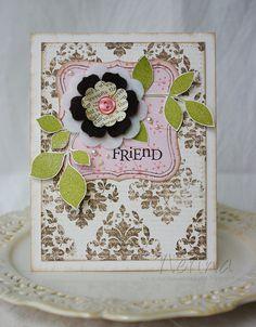 Felt Flower by Nerina's Cards, via Flickr