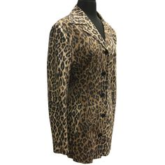 5649a38f3f69 Dolce   Gabbana Dg Signature Leopard Trench Sz 44 Trench Coat