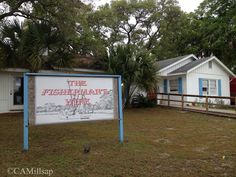 """""""The Fisherman's Wife"""" in Carrabelle, Florida. Try the sweet tea, fried shrimp, cheese grits and hushpuppies ! @Cheryl-Anne Millsap: Florida's Forgotten Coast"""