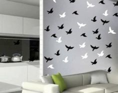 Birds Stickers, birds decals for walls and windows, removable bird decals, birds for windows, birds for balcony, flying birds Decals, d78