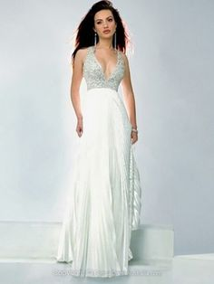 A-line Chiffon V-neck Crystal Detailing Floor-length Formal Dresses -AUD$171.99