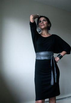 Oversized Black Party Dress  Free US Shipping  by marcellamoda
