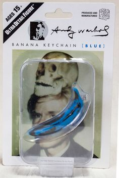 Andy Warhol Banana Keychain Blue Ver. Ultra Detail Figure Medicom Toy JAPAN