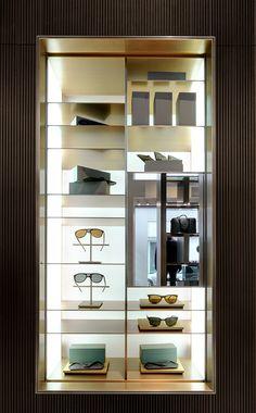 Park Associati designed the new Brioni store in Frankfurt. in News Design. Retail Interior, Luxury Interior, Modern Interior, Interior Design, Display Shelves, Shelving, Wardrobe Design, Retail Space, Luxury Shop