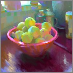 Starting a new show at work that requires lots of digital painting. Heres a still life warm up base on a photo I took at the office kitchen.