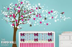 i like the idea of a cherry blossom tree on the wall for my sweet girl $128