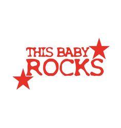 This baby rocks Aufbügler in 24 Farben 561 von HeartyFrog auf Etsy, kr27.00