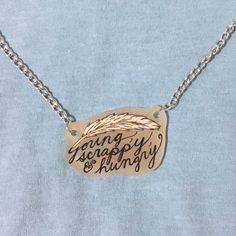 "Don't throw away your shot to get this ""young, scrappy, & hungry"" necklace. Don't let it be one of the million things you haven't done. Shop like…"