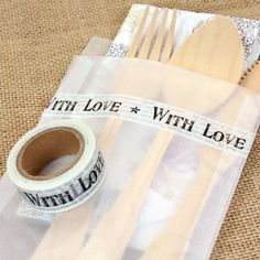 Vintage 'With Love' Paper Tape. Great to add to favours etc
