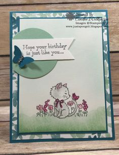 Just Sponge It: Time for the Stampin' Up! Only Challenge