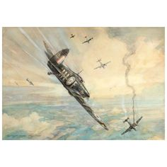 Frederick Gordon Crosby - Hawker Hurricane (1941) Watercolour