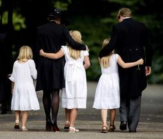 (L-R) Dutch Princess Ariane, Queen Maxima, Princess Catharina-Amalia, Princess Alexia and King Willem-Alexander attends the Funeral of Prince Friso at the Stulpkerk in Lage Vuursche
