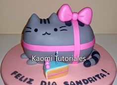 Kaomi Tutoriales: Cómo hacer una torta de Pusheen / How to make a Pusheen Cake