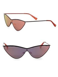 41aad1db4d6e LE SPECS LUXE The Fugitive Black   Mirrored Sunglasses.  lespecsluxe