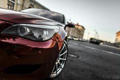 BMW E60 M5 burgundy