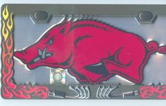 1, ARKANSAS RAZORBACK SILVER, Metal Signs, with, 1, License Plate Frames,,SHIPPED USPS,,,6A3.1&2A4.8 by ASTRODEALS, http://www.amazon.com/dp/B00EMIC9SM/ref=cm_sw_r_pi_dp_Kgdesb1SEWMMN