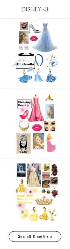 """DISNEY <3"" by kaylaansan ❤ liked on Polyvore featuring Yves Saint Laurent, Disney, Buy Seasons, Lime Crime, Nouv-Elle, SOL Republic, Rubin Singer, Masquerade, WALL and Oscar de la Renta"