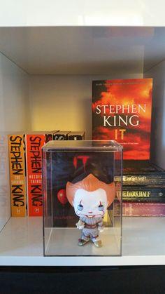 Pennywise Pop Vinyl display in bookshelf