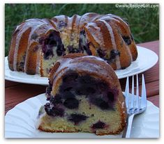Glazed Blueberry- Lime Pound Cake