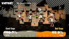 Jumping for joy! Splatoon white ink color splatfest/ victory/ win. Team chicken.