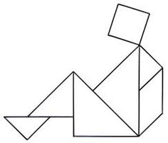 Resultado de imagem para tangram para imprimir Kids Education, Line Chart, Worksheets, Clip Art, Prints, Montessori, Maths, Origami, Spanish