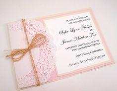 Lace Doily Vintage Invite