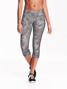 """Go-Dry Compression Crops for Women (20"""") 