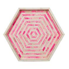 Mirah Pink Octagon Tray   AELFIE