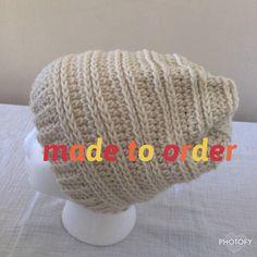 Slouchy Beanie / Messy Bun Beanie / Crochet Beanie
