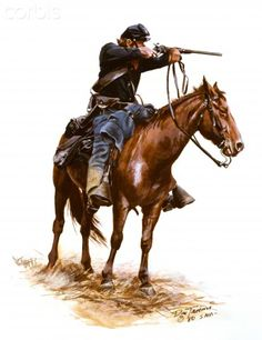 American Civil War, Union Cavalryman with Carbine