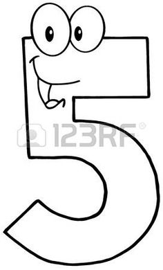 Uvedeno číslo pět Cartoon Maskot znak photo