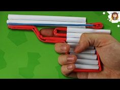 How to Make an Automatic Paper Revolver That Shoots 6 Bullets With Trigger - YouTube