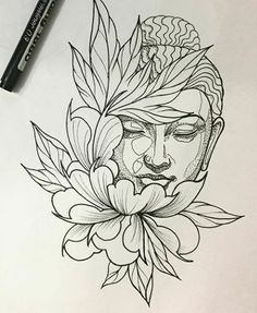 Best tattoo lotus buddha beautiful IdeasYou can find Buddha tattoos and more on our website. Buddha Tattoo Design, Tattoo Design Drawings, Tattoo Sketches, Tattoo Designs, Buda Tattoo, Tattoo Motive, Arm Tattoo, Sleeve Tattoos, Tiger Thigh Tattoo
