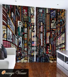 NEW YORK CITY TIMES SQUARE 2 108 X 84 Bedroom Living Room Curtain Panel Set