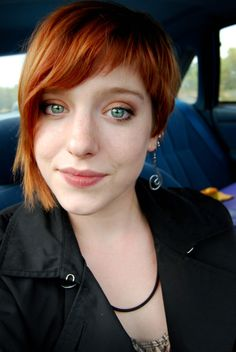 Pixie Cropped: asymmetrical, I like the short bangs on the right!