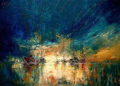 Elle est Polonaise, elle s'appelle Justyna Kopania et cette artiste peint la mer et les bateaux avec une technique absolument splendide.