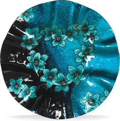 Forget Me Not Round Plate (Set of 2)