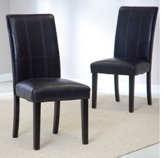 Palazzo Dining Chairs Set of 2 Black