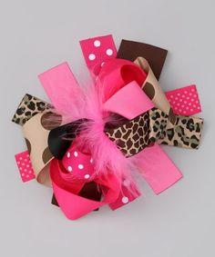 The 6 Inch Pink Safari Bow-