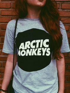 T-Shirt Arctic Monkeys Black and White Neo Grunge, Grunge Style, Soft Grunge, Goth Style, Artic Monkeys Shirt, Arctic Monkeys, Tokyo Street Fashion, Le Happy, Band Merch