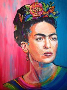 "Saatchi Art Artist Gillian Brennan; Painting, ""Frida"" #art"