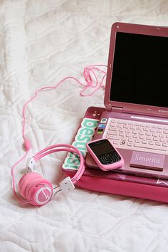 If only I could get a Mac Book in pink.... Perfect for my office at Parker's Playhouse <3