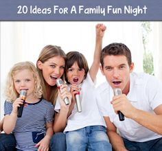 I thought there were some great ideas here!!  20 Ideas for a Family Fun Night