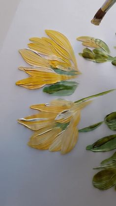 Stunning and classical flower hand painted illustrations for a luxury, high-end destination wedding. This is how I go about creating completely bespoke artwork and floral designs for an elegant, yellow and green outdoor, botanical country wedding. Painting Flowers Tutorial, Paint Flowers, Acrylic Painting Flowers, Canvas Painting Tutorials, Diy Canvas Art, Acrylic Art, Yellow Artwork, Yellow Painting, Green Paintings